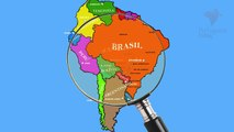 South America : Countries, Cities, Capitals in Portuguese - Lesson 13 - Porgt