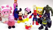 SURPRISE EGGS FOR KIDS  BABY Robocar Poli Toys Spiderman Disney Frozen Hulk Batman Superheroes TOY