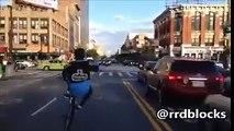 The crazy biker on street!!