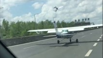 Un avion vient se poser en pleine autoroute à cause d'une panne moteur
