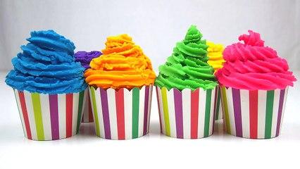 LEARN COLORS for Children w- Play Doh Surprise eggs Ice cream Cupcakes Batman Peppa Pig Playdough