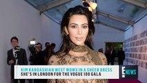 Kim Kardashian Wests Sheer Dress Is All Sorts of Wow   E! News