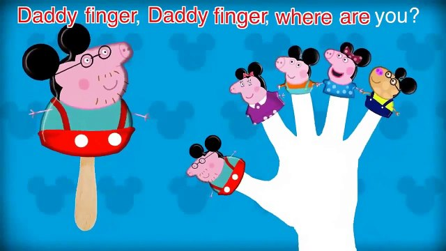 Peppa Pig Mickey Mouse Finger Family   Nursery Rhymes 2