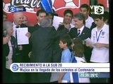 Homenaje a la seleccion uruguaya Sub 20 que clasifico a los juegos olimpicos Londres 2012