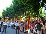 Acte de Sobirania, cap al Parlament de Catalunya (25) .Arribada davant diputats al Parlament