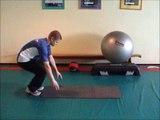 Oefening 29 - Core stability - Landtraining - Swiss ball