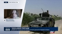 Exclusive footage: battle for Falluja put on hold as concern grows for trapped civilians
