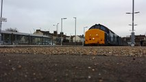 Two DRS Class 37s 37419 And 37405 Departing Lowestoft Working The 19:55 For Norwich 2/6/16
