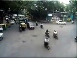 Traffic Accident Sudden Lane Change by Bangalore Traffic Police YouTube