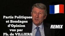 Ph. de VILLIERS le prouve... Les sondages sont achetés par les Partis politiques et non par les journaux ! (Hd 720)