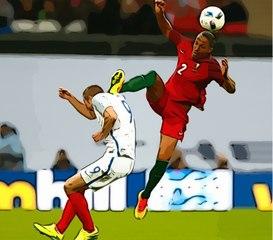 Bruno Alves sent off for high kick on Harry Kane