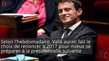 Manuel Valls pense à la présidentielle... 2022 !