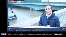 Crue à Paris : Le zouave du pont de l'Alma immergé jusqu'à la taille (Vidéo)