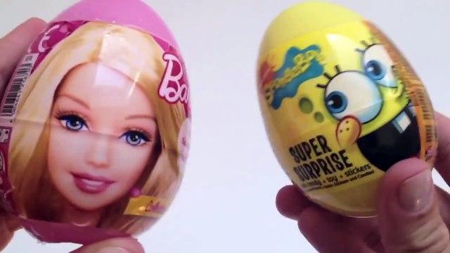 SpongeBob Surprise Egg, Barbie Surprise Egg and Peppa Pig Surprise Egg   Surprise Egg Toy Review