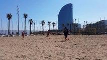 Chilenas freestyle fútbol playa escuadra - Bicycle kicks freestyle beachsoccer