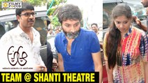 A Aa Team watched Movie with Fans at Shanti Theatre - Filmyfocus.com