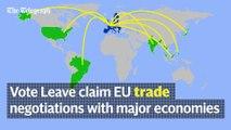 EU Referendum: Vote Leave's key claims about Brexit
