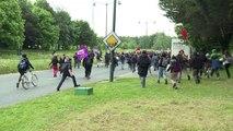 Loi travail: charge policière contre des manifestants à Rennes