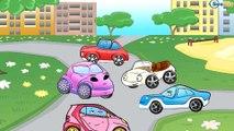 ✔ Pelleteuse, Voiture de course pour enfants. Dessin animé voiture. Tiki Taki Dessins Animes ✔