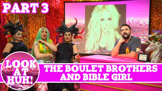 Bible Girl & The Boulet Brothers Look at Huh Pt 3 on Hey Qween! with Jonny McGovern