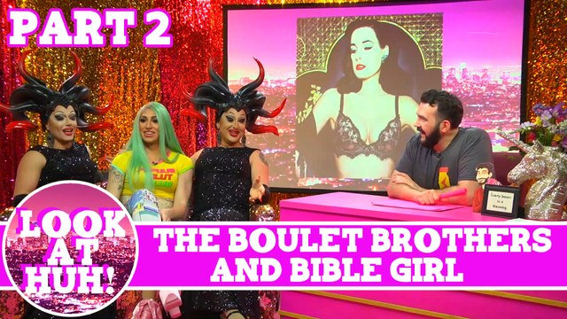 Bible Girl & The Boulet Brothers Look at Huh Pt 2 on Hey Qween! with Jonny McGovern