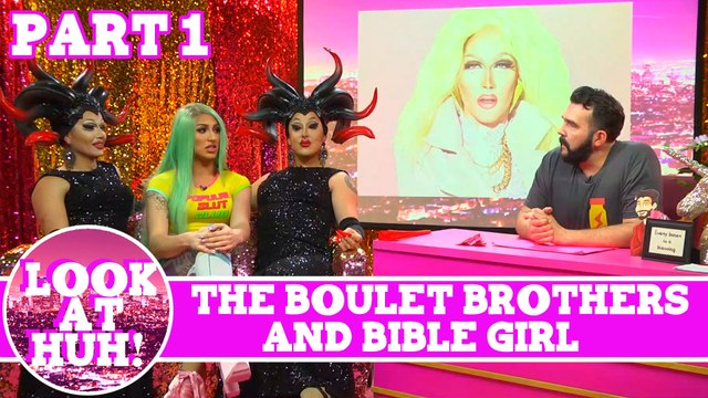 Bible Girl & The Boulet Brothers Look at Huh Pt 1 on Hey Qween! with Jonny McGovern