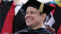 Matt Damon Speaks To MIT Graduates