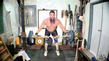 Snatch and Cleans from High Blocks and Squat With CHAINS! Training May 27 2016