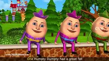 Humpty Dumpty - 3D Animation English Nursery Rhyme songs For Children with Lyrics 01.06.2016