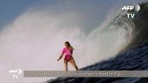 Surfing - One-armed wildcard stuns women's best in Fiji