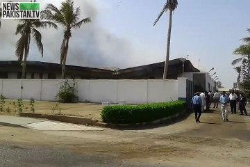 پی آئی اے انجینیرنگ کمپلکس خوفناک آتشزدگی