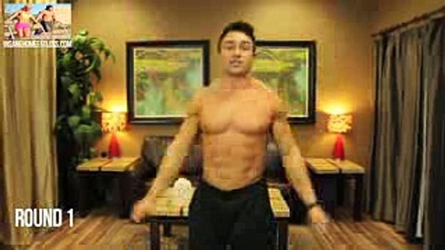 5 Minute Chest, Shoulder & Tricep Workout at Home - YouTube