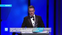 Matt Damon is both serious and funny at MIT commencement speech