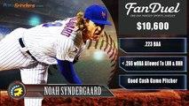 FanDuel Picks - MLB Pitchers For Daily Fantasy Baseball 6-3-16