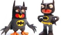 Batman Angry Bird Stop Motion _ Angrybirds Costume Superman Superhero Play Doh Videos