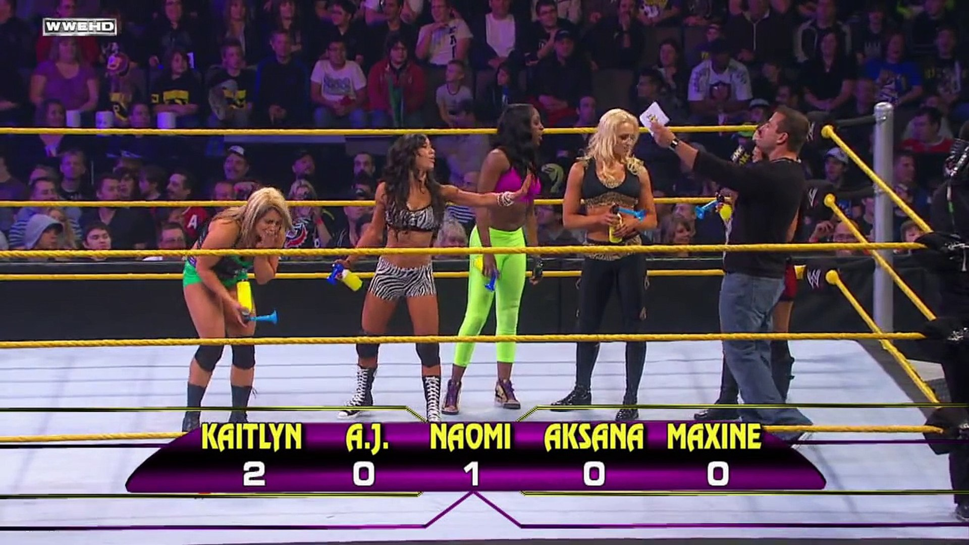 WWE NXT- NXT Rookie Diva Challenge- Who's That Body- -