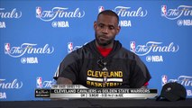 LeBron James on Warriors Bench  Cavaliers vs Warriors - Game 2 Preview  June 3, 2016  NBA Finals