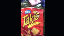 Takis xplosion cheese and chilli pepper tortilla chips review.