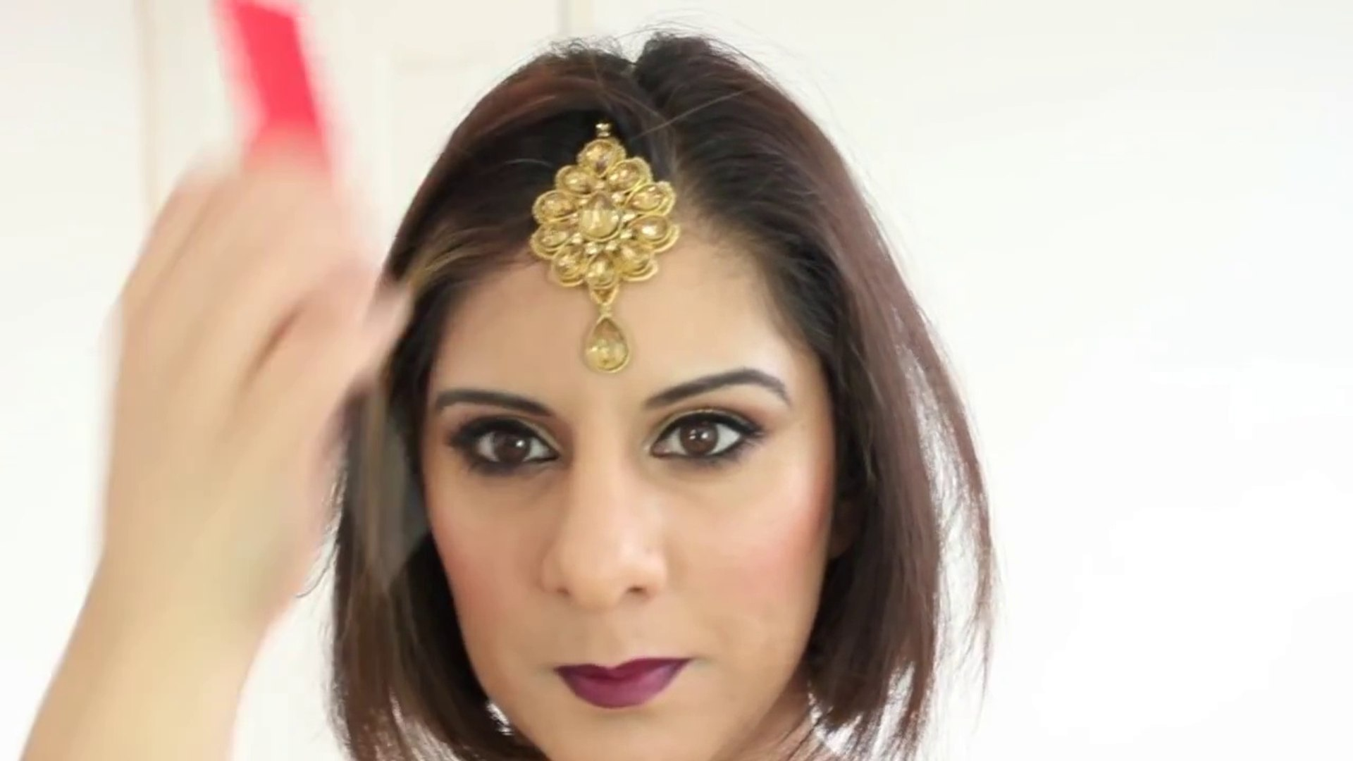 mua tip- simple easy tikka setting for short loose hair
