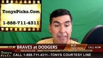 Atlanta Braves vs. LA Dodgers Pick Prediction MLB Baseball Odds Preview 6-3-2016