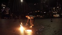 19/25 Leilani NeonCircus spins folding fire fans @ Fire, Fotos, Footage, Flow, and Fun SF 10/8/2015