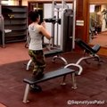 Hot and Sexy Video Of Sapna Vyas Patel In GYM
