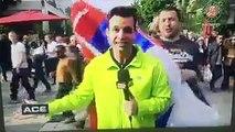 Novak Djokovic fans after winning his first Roland Garros tittle