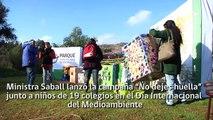 Ministra Saball y niños de 19 colegios en Día Internacional del Medioambiente