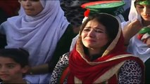 Woman Crying during Imran Khan Speech at PTI Jalsa Kohat