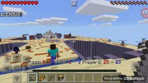 Playing minecraft capture the flag