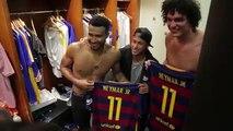 Neymar Meets the Warriors - Cavaliers vs Warriors Game 2 - Jun 5, 2016 - 2016 NBA Finals