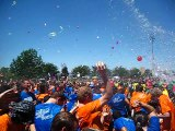 EPIC Water Balloon Fight   World s largest water balloon fight   People are awesome!