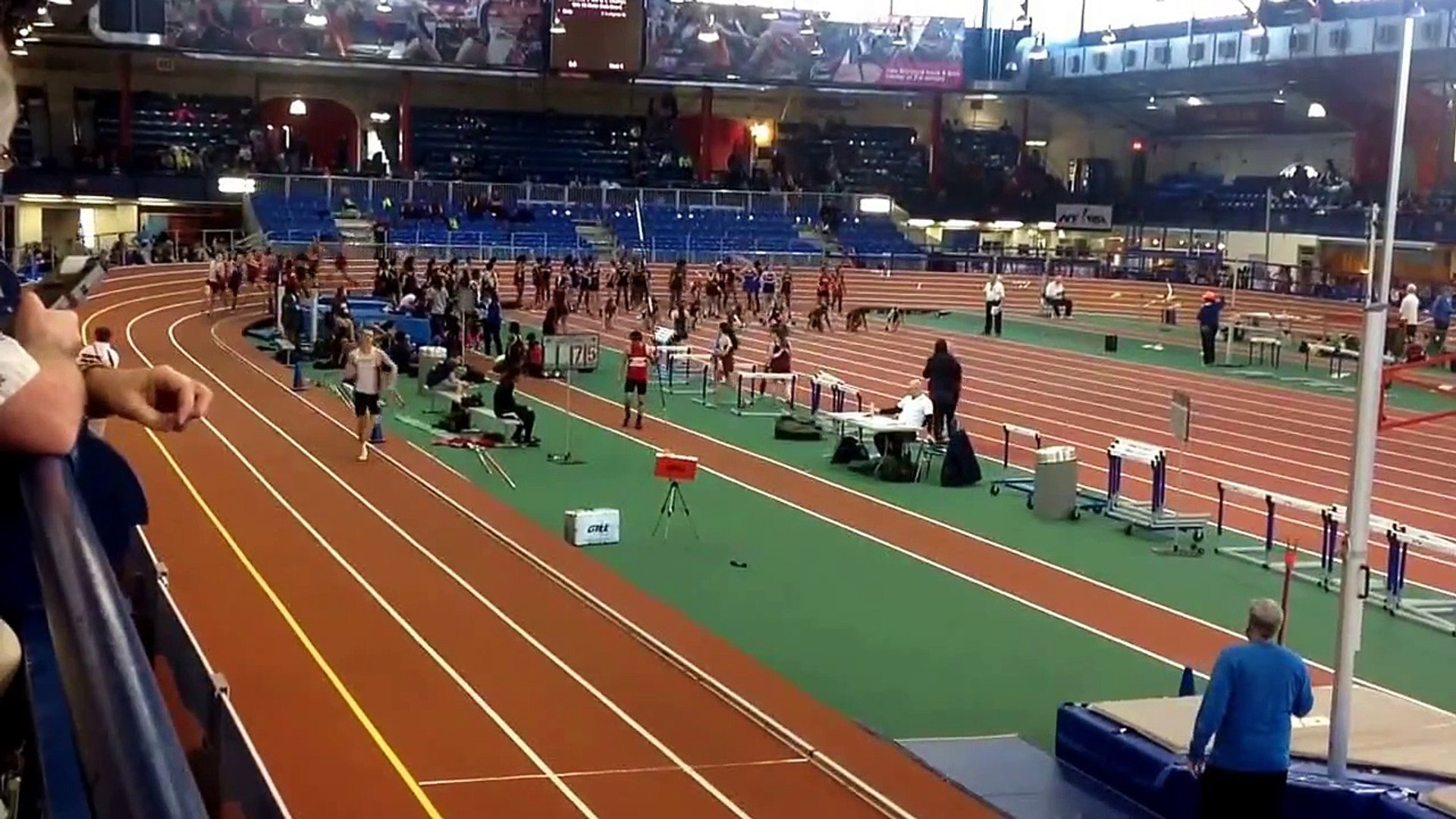 2015 Section 1 Class AA 1000m.  James Asselmeyer NY#1 2:26:53.  Ragusa 2nd. NYC Armory. Feb 17, 2015