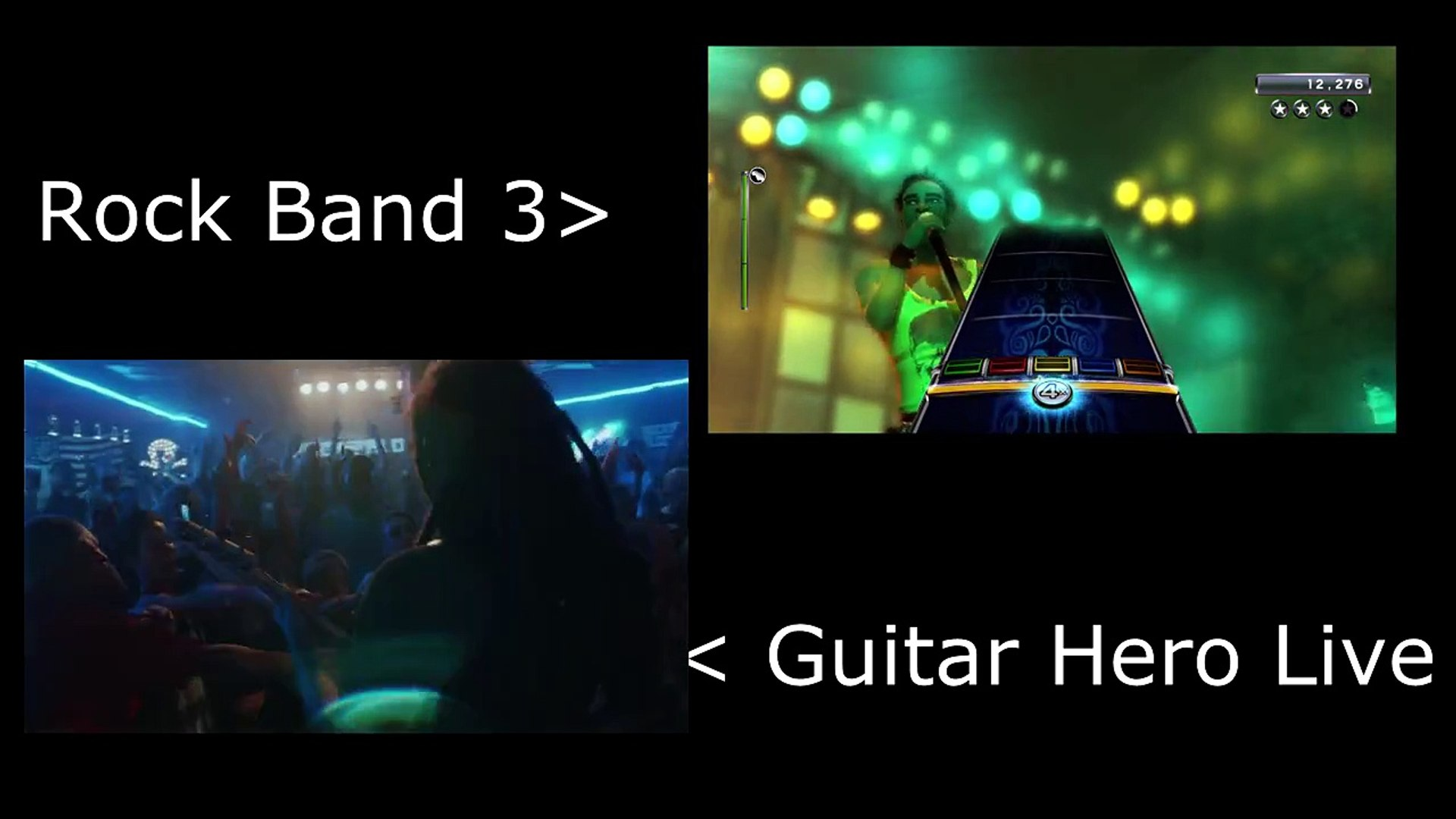Rockband 3 Vs Guitar Hero Live R U Mine Video Dailymotion